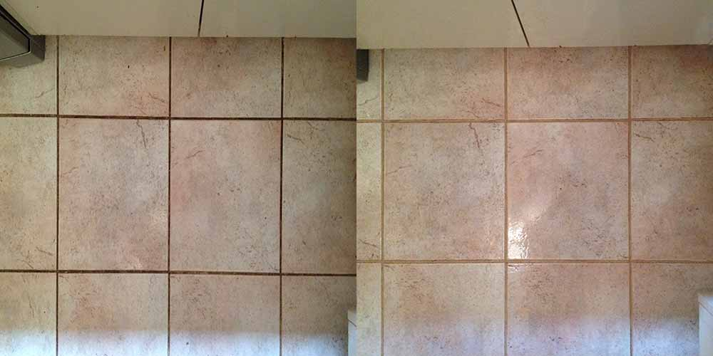 Tiles and Grout Cleaning Before After Redland Bay
